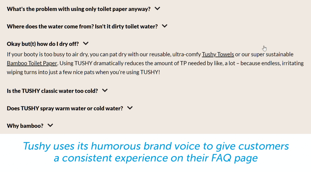 use your brand voice in your faq