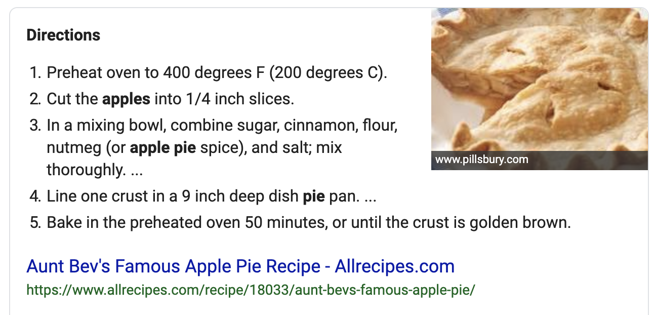 using schema to mark up recipe directions