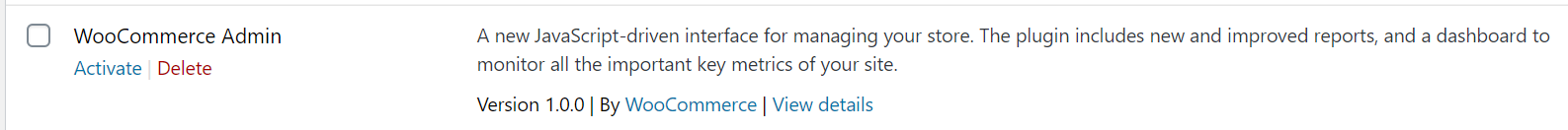 WooCommerce Admin Feature Plugin