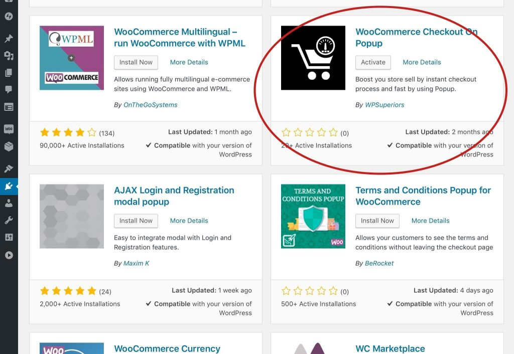 woocommerce checkout on popup to streamline woocommerce checkout