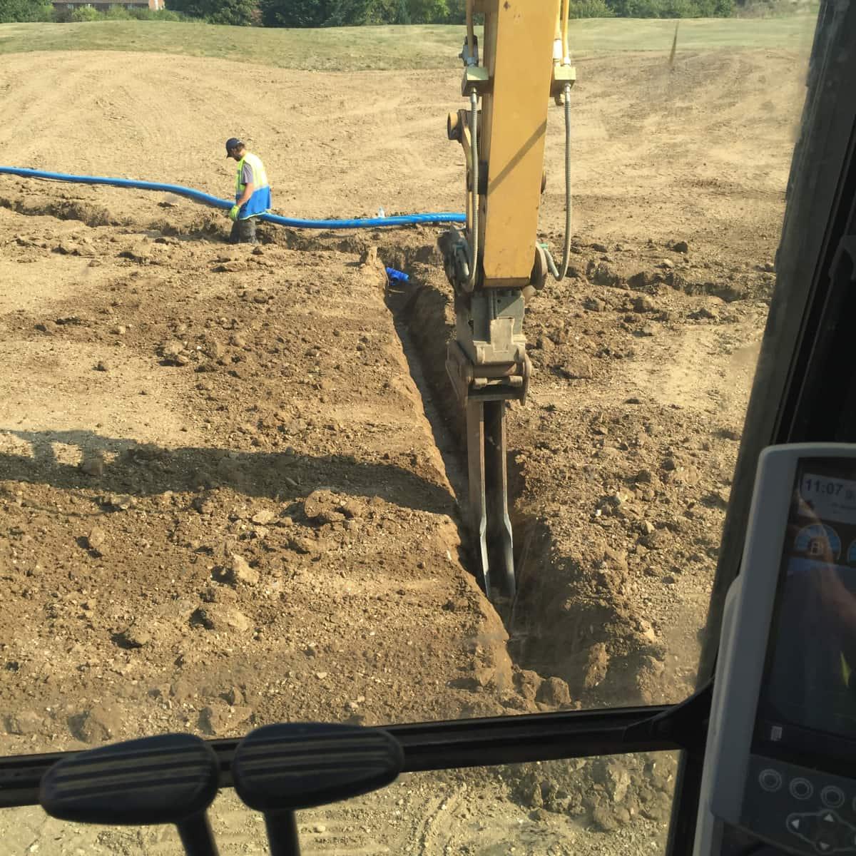 Contour Golf Drainage Installation