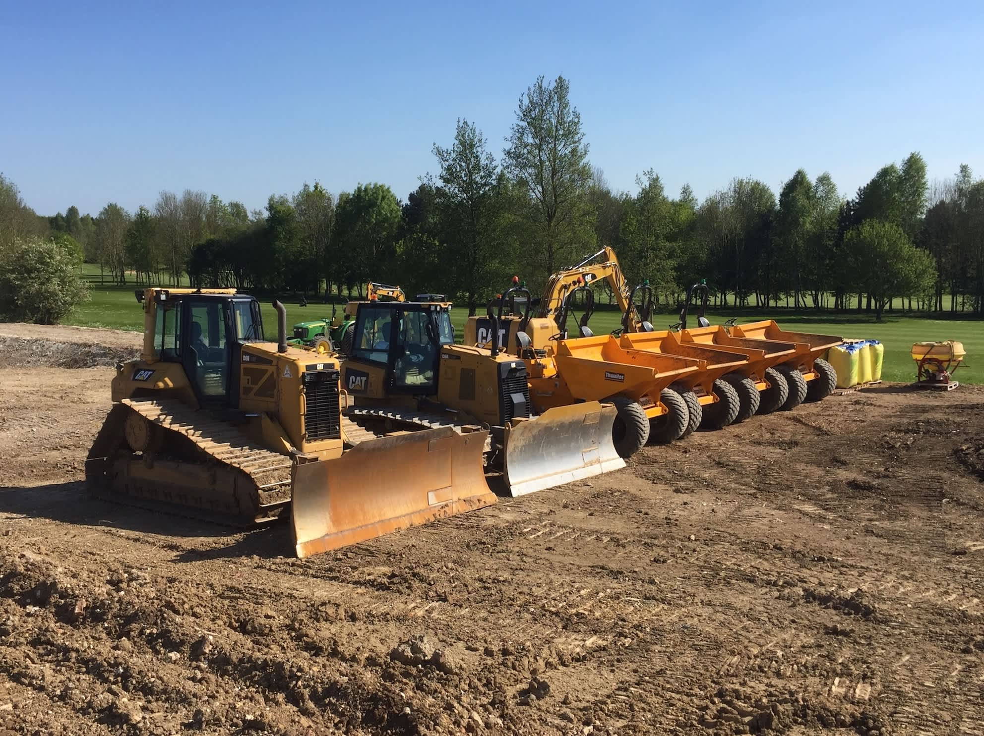 Contour Golf CAT Dozer and Excavators