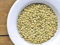 Lentils are a high iron food.