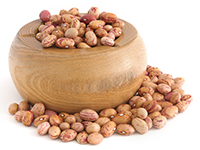 Pinto beans are a high fiber food.