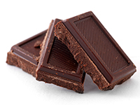 Dark chocolate is a high fiber food.