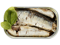 Sardines are a high omega-3 food.