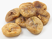 Dried figs are a high fiber food.