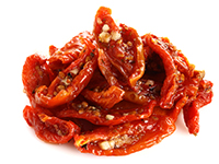 Sun-dried tomatoes are a high fiber food.