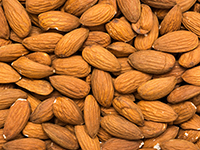 Almonds are a high fiber food.