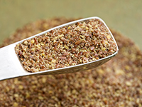 Flaxseeds are a high omega-3 food.