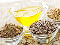 Flaxseed oil is a high omega-3 food.