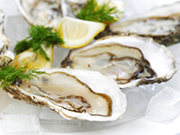 Oysters are a high omega-3 food.