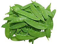 Snow peas are a lower calorie filler food.