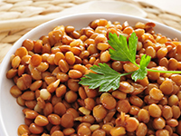 Lentils are a lower calorie filler food.