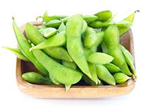 Edamame (soybean) is a lower calorie filler food.