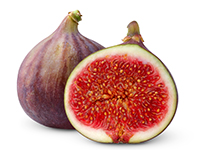 Figs are a lower calorie filler food.