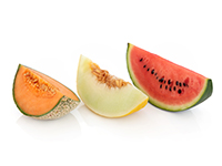 Melons are lower calorie filler foods.