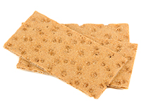 Rye wafer crackers are a lower calorie filler food.