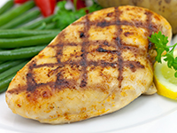 Chicken breast is a lower calorie filler food.