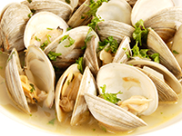 Clams are a lower calorie filler food.