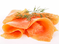 Smoked salmon is a lower calorie filler food.