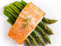 Salmon is a lower calorie filler food.