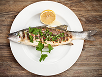 Sea bass is a lower calorie filler food.