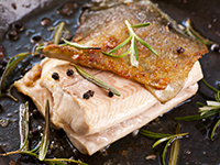 Trout is a high omega-3 food.