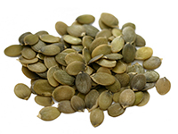 Pumpkin seeds are a high iron food.