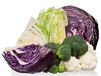 Broccoli and cauliflower are lower calorie filler foods.