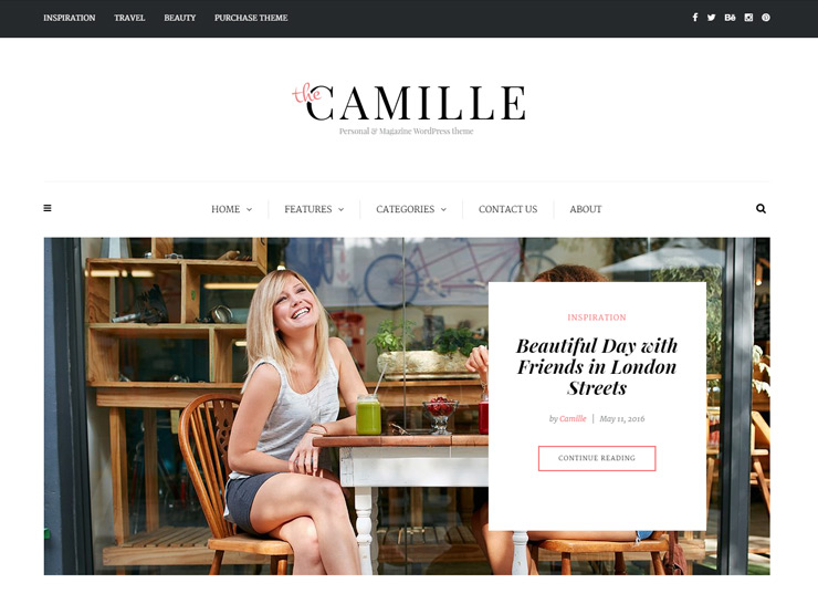 Camille - Personal, Magazine and Blog Theme