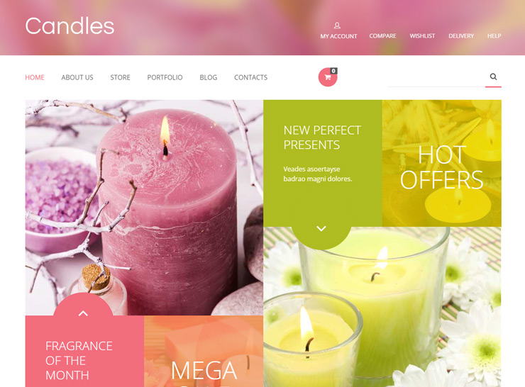 Candles WooCommerce Theme
