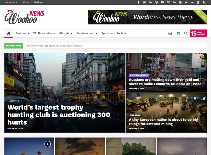 Woohoo - News, Magazine and Blog Theme
