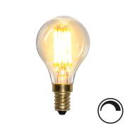 Filamentpære Soft Glow LED P45 SOFT E14 350LM 821 4W DIM