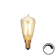 Filamentpære Soft Glow LED ST38 SOFT E14 120LM 821 1,7W DIM