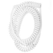 LKA366/7 Spiralledning 1,5-6m u/plugg 3x1,5mm² Hvit
