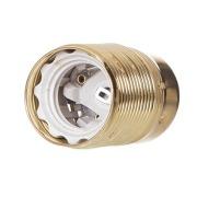 LKA381/G Lampeholder messing E27 10mm