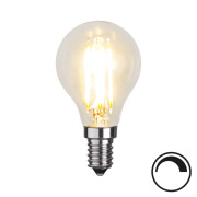 Filamentpære Klar LED P45 E14 420LM 827 4,2W DIM