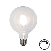 Filamentpære Klar LED G125 E27 600LM 827 6W DIM