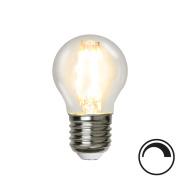 Filamentpære Klar LED P45 E27 420LM 827 4,2W DIM