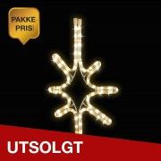 10x Stjerne Sparkle Ø:49 cm Varmhvit IP44