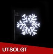 Stolpe-/veggdekor Snøstjerne 1 H:71 cm Kaldhvit