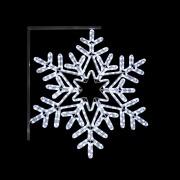 Stolpe-/veggdekor Snøstjerne 2 H:80 cm Kaldhvit