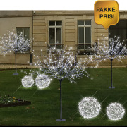 Pakke 6: 3 trær + 4 kuler