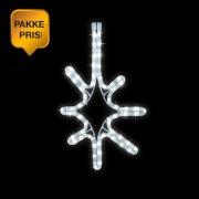 10x Stjerne Sparkle Ø:49 cm Kaldhvit IP44