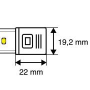 Endekappe for 230V LED-stripeIP40
