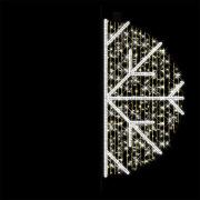 Stolpe-/veggdekor Snøstjerne 3 H:180 cm Varmhvit