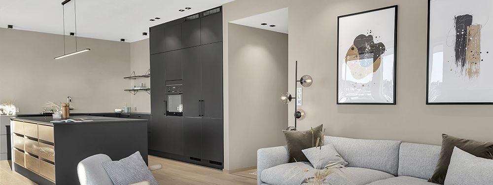 Belysning av leilighetskompleks