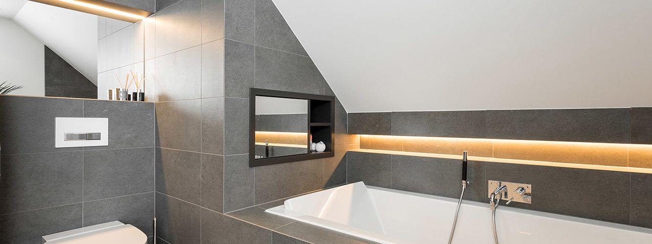 LED-striper på bad