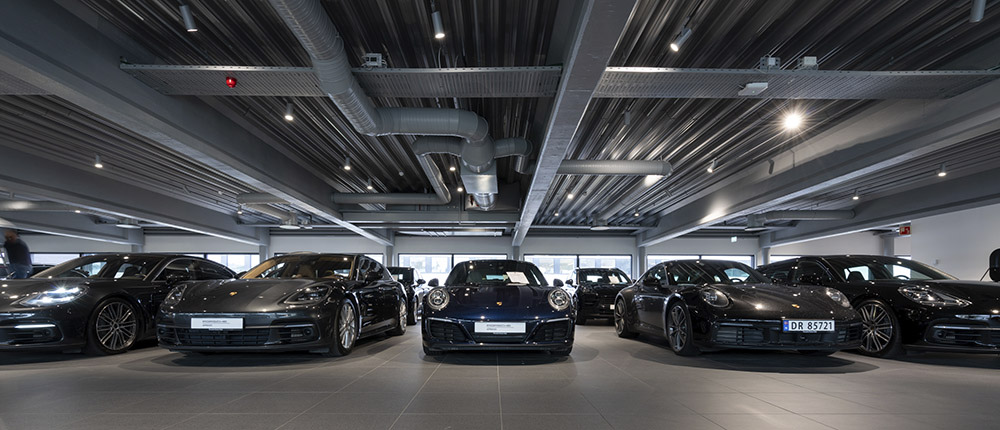 Showroom og bilhall, Porsche Center Oslo